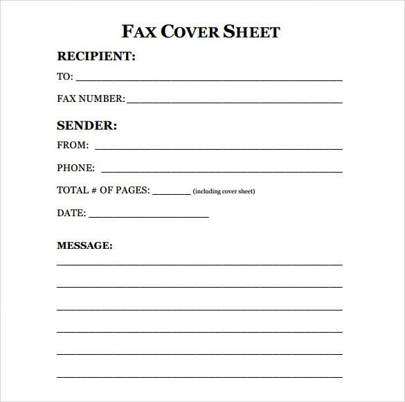 fax cover sheet template fax cover sheet template microsoft word ...