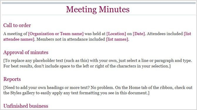 12 Best Meeting Minutes Templates for Professionals :: Smarter ...