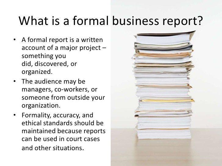 Formal Business Report Sample 10 Sample Business Report Free – Formal Business Report Sample