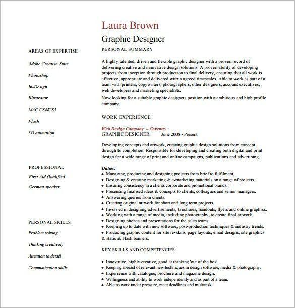 Designer Resume Template – 9+ Free Word, Excel, PDF Format ...