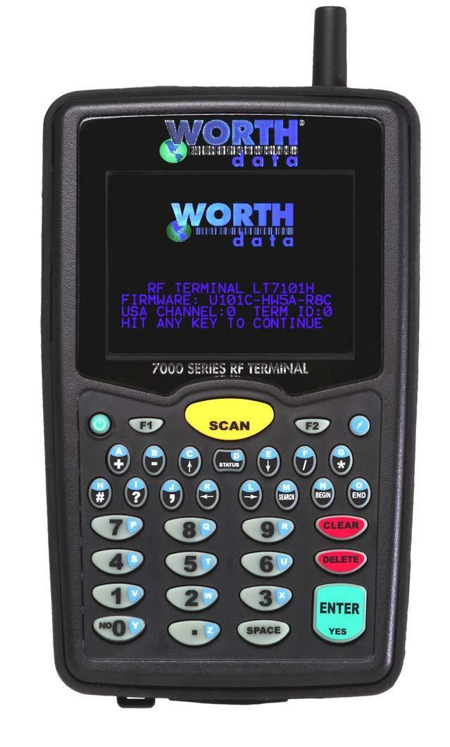 7100 Mobile RF Terminals with Built-In Bar Code Scanner - Worth Data