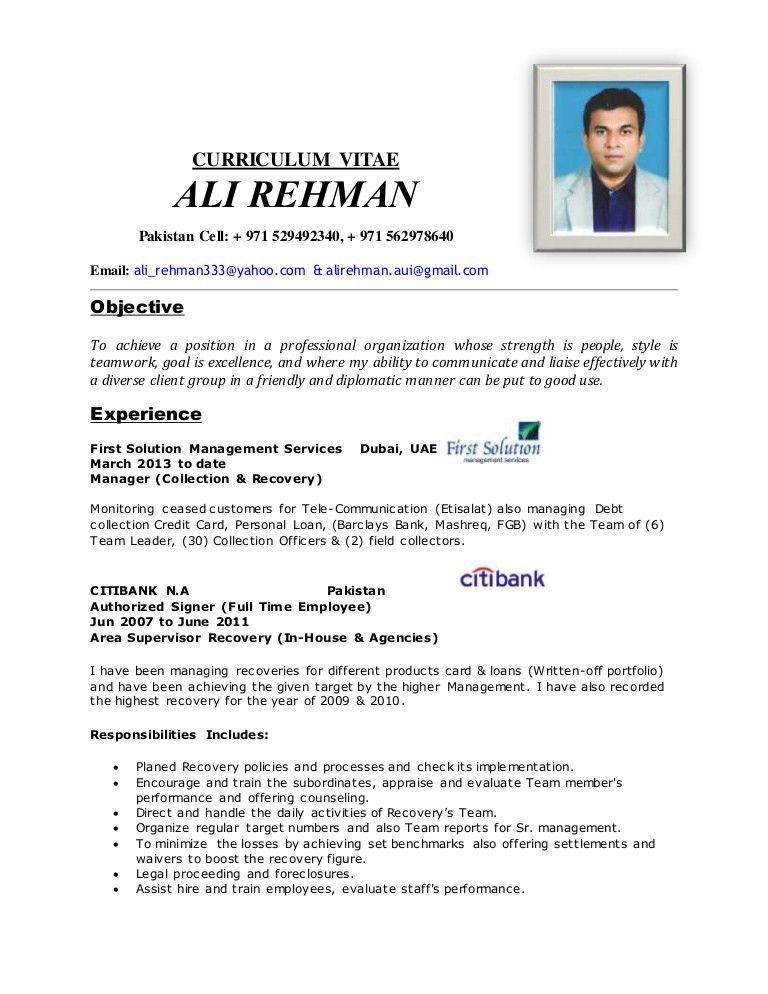 Ali Rehman's Resume