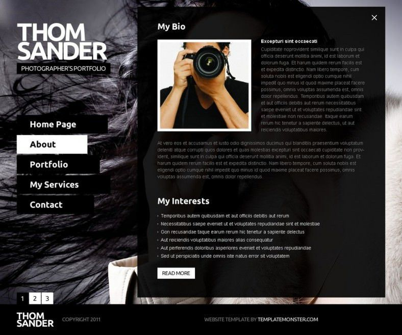 40+ Free & Premium Photography Website Themes & Templates | Free ...
