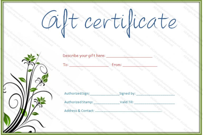 Gift Certificate Template | Fotolip.com Rich image and wallpaper