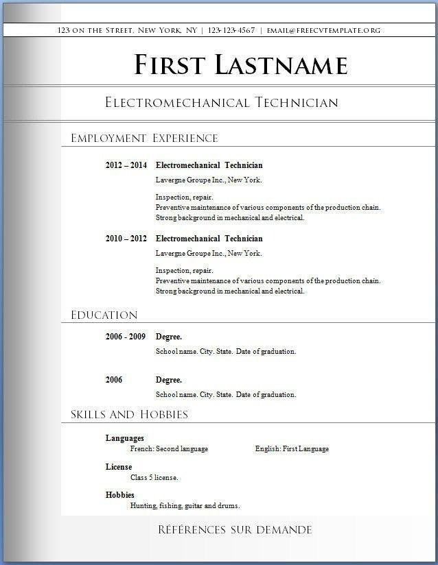 Free Printable Resume Templates Microsoft Word   health-symptoms ...