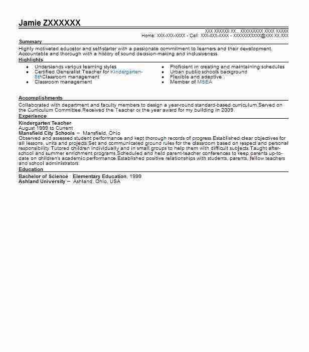 Best Teacher Resume Example | LiveCareer
