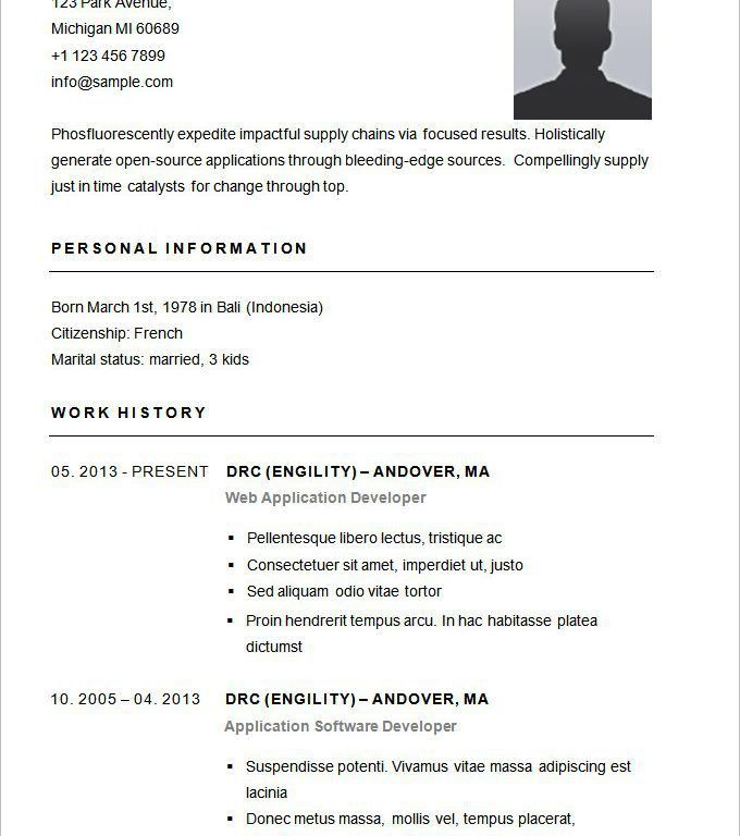 Home Design Ideas. resume example basic resume sample format ...