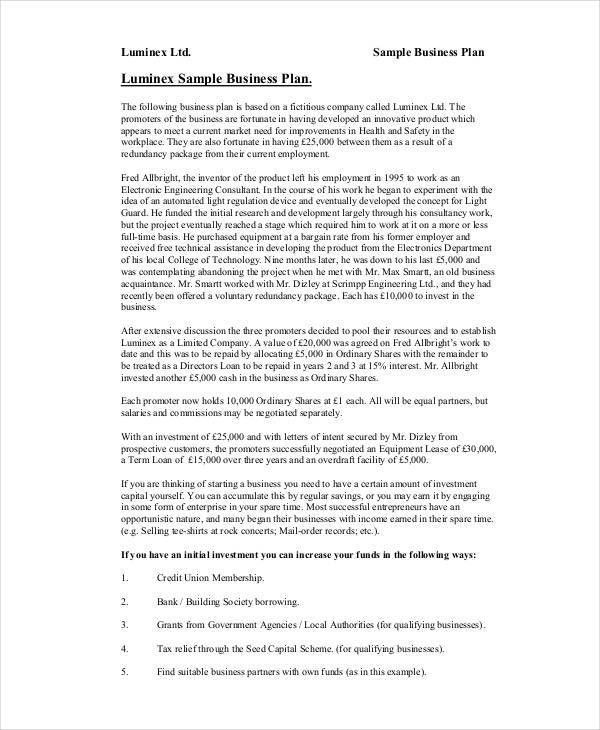 Business Proposal Pdf. Business Plan Sample 1; 2 Shopping Mall ...