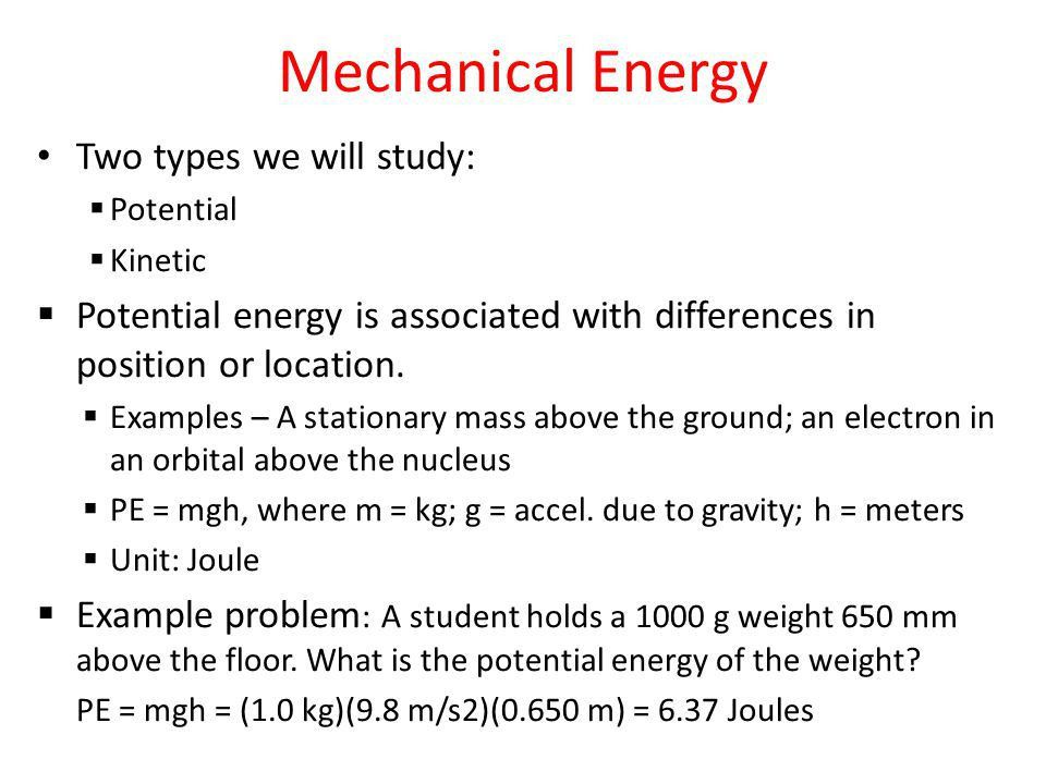 Mechanical Energy Copy these notes into your journal. - ppt video ...