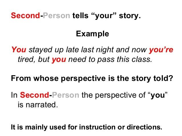 First second-and-third-person-lesson