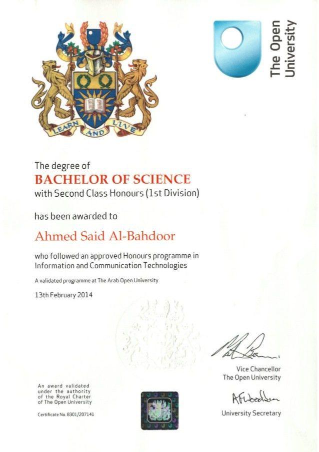 University Certificate