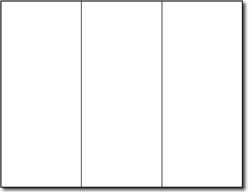 free printable blank brochure template