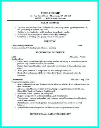 Chef Resume. Chef Cv Sample Chef Cv Sample | Myperfectcv Cook ...