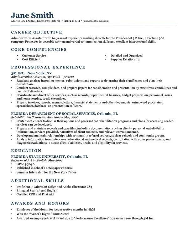Graduate School Resume Objective - Best Resume Collection