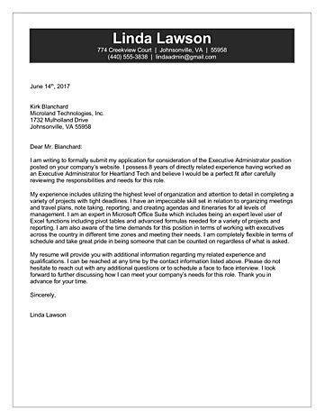 Administrator Cover Letter
