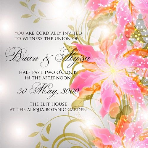 Flower birthday invitation template free vector download (22,828 ...