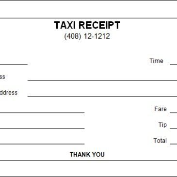 Taxi receipt Maker Archives - Word Templates