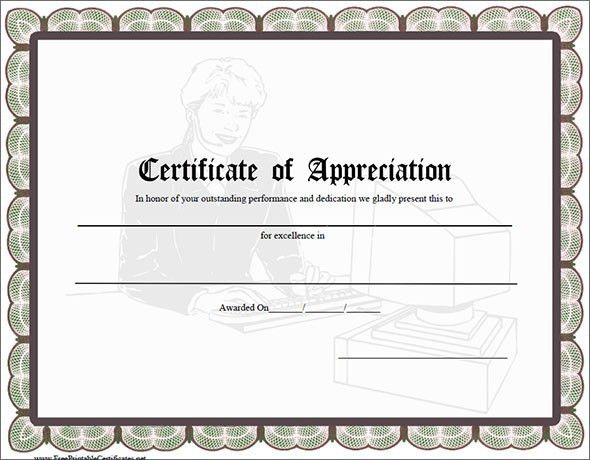 Certificate of Appreciation Templates – PDF Word – Get Calendar ...