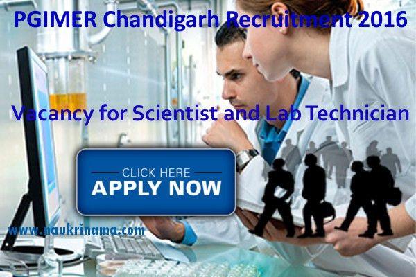 PGIMER Chandigarh Scientist and Lab Technician Jobs 2016, pgimer ...