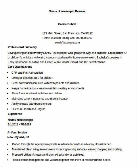 Executive Housekeeper Resume - cv01.billybullock.us