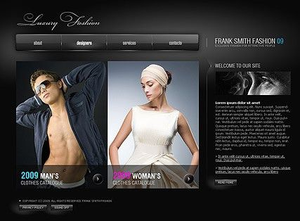 Luxury Fashion flash website template | Best Website Templates