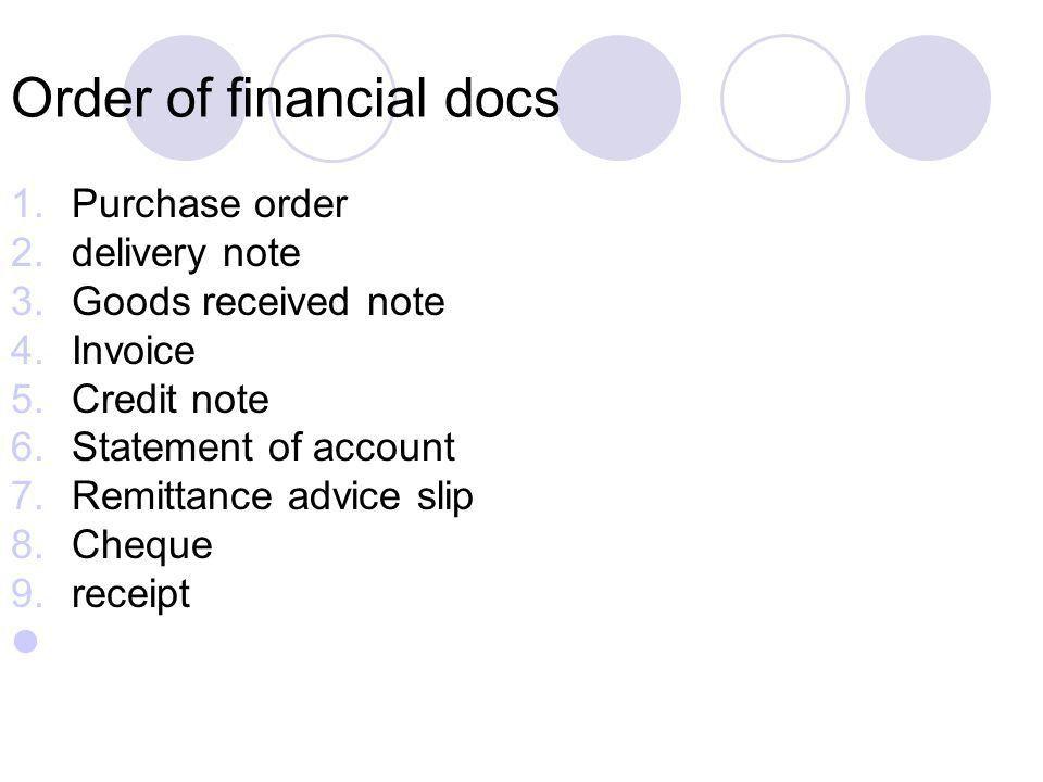 Flow of financial docs between businesses - ppt download
