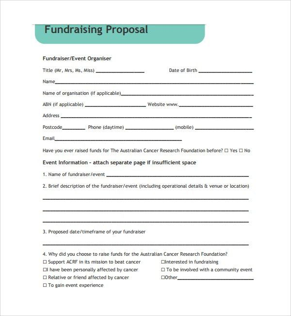 Sample Fundraising Proposal Template - 7+ Free Documents in PDF