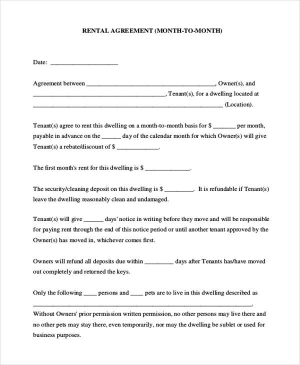 Sample House Agreement Form - 8+ Free Documents in PDF, Doc