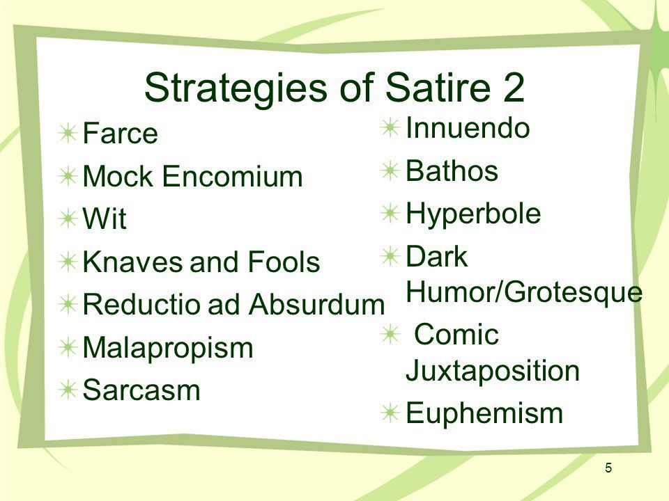 The Anatomy of Satire Fools are my theme, let satire be my song ...