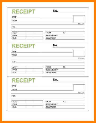 8+ free printable receipt book | appeal leter