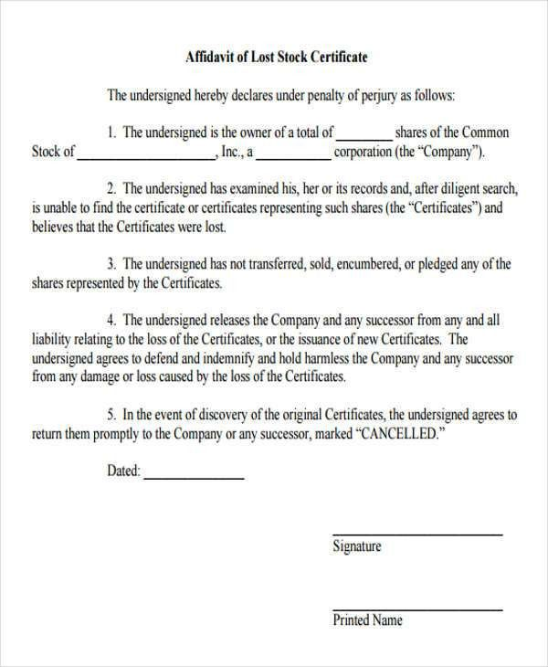 8+ Lost Affidavit Form Samples - Free Sample, Example Format Download