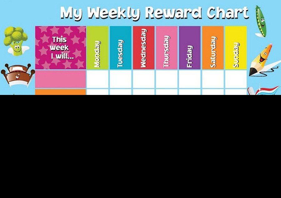 Reward Chart Template for Kids   Kiddo Shelter