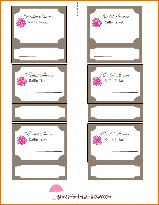 8+ free printable raffle ticket template | Job Resumes Word
