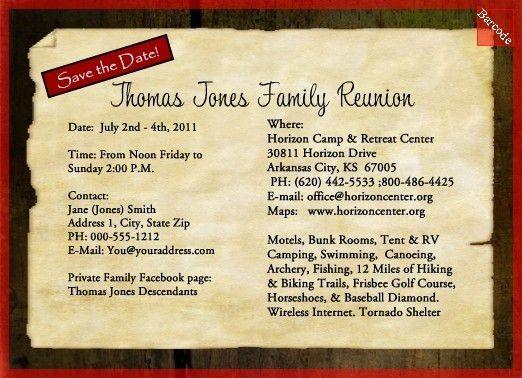Family Reunion Invitation Samples