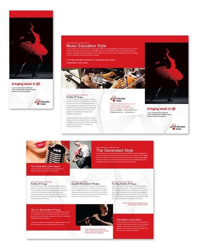 Arts Education Center Tri Fold Brochure Template