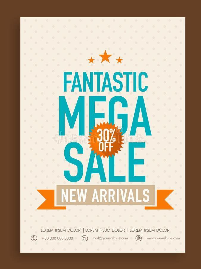 Poster, Banner Or Flyer Design For Mega Sale. Stock Photo - Image ...