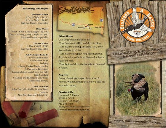 Hunting Brochures | Hunting Brochure Design