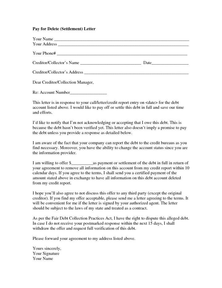 How To Write A Debt Settlement Offer Letter | Docoments Ojazlink