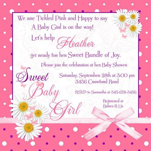 Girl Baby Shower Invitation Wording | christmanista.com