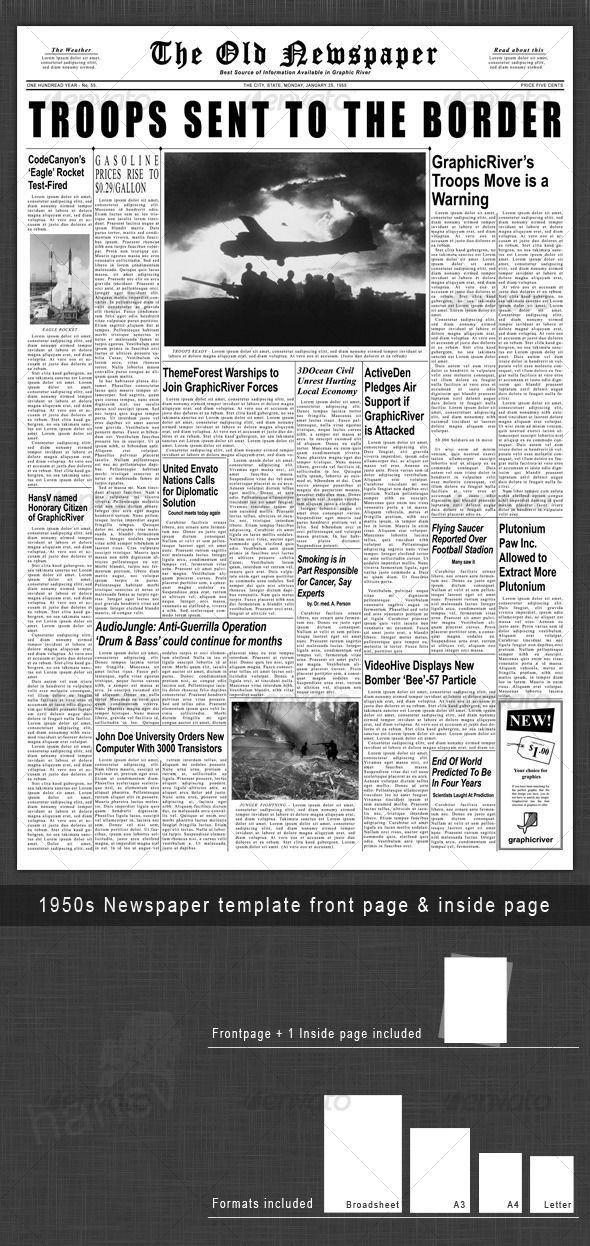 Newspaper Headline Template. Editable Elementary School Newspaper ...