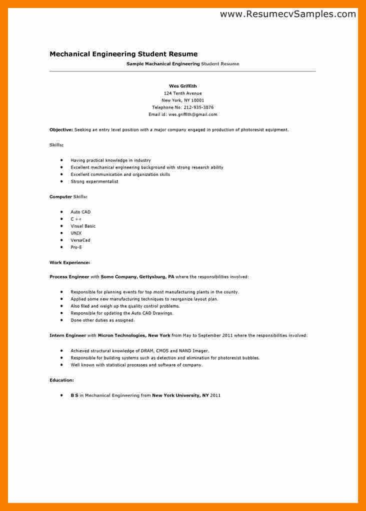 5+ student cv template for first job | biology resume