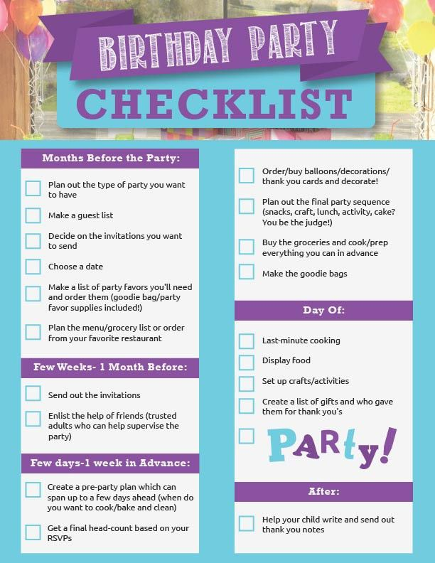 Party Planning Checklist is a Guaranty of a Successful Evening ...