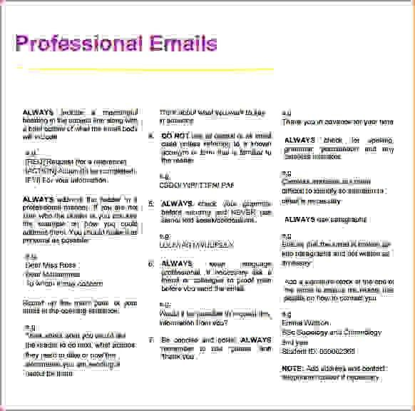 3+ professional email exampleReport Template Document | report ...