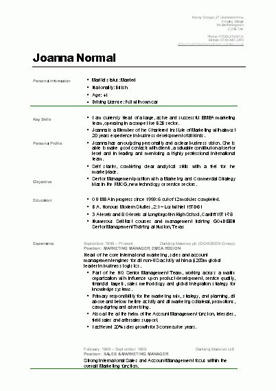 9 Examples Of CV For Students | applicationsformat.info