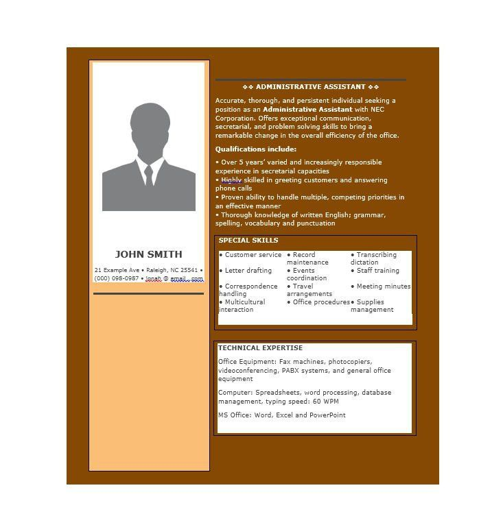 20+ Free Administrative Assistant Resume Samples   Template Lab