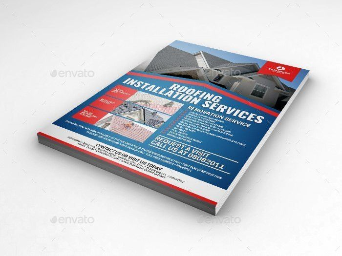 Roofing Services Flyer by Artchery | GraphicRiver