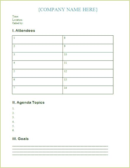 Download Free Meeting - Agenda Book Templates for Microsoft Office