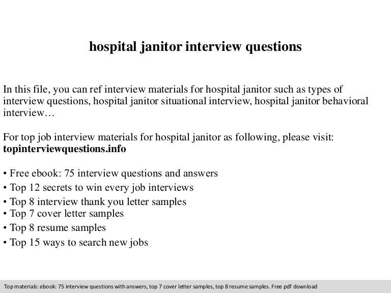 Hospital janitor interview questions