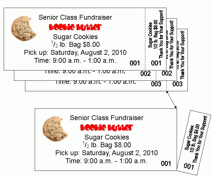 Info on Aiea Copy Center's Ticket Printing for Events & Fundraising