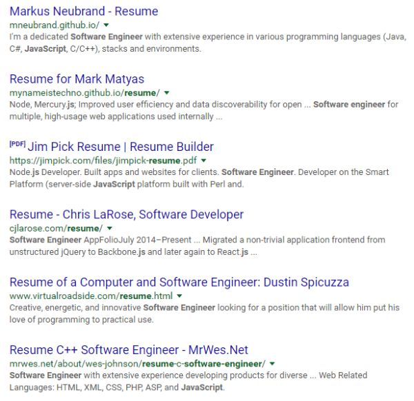 Google Sample Resume Google Resume Samples Visualcv Resume Samples